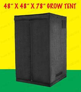 4x4x6.5ft MYLAR HYDROPONIC GROW TENT BOX ROOM 48x48x78