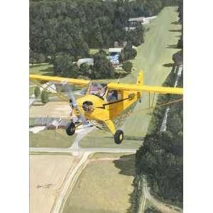 The Legend Begins   Sam Lyons   Legend Cub Aviation Art