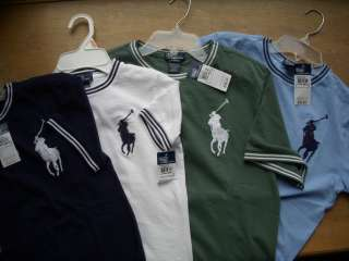 Polo Ralph Lauren Big Pony Mesh Crewneck Tee Shirt Boys NWT UPickColor