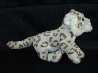 Lifelike Plush Cheetah Snow Leopard Cub Stuffed Animal