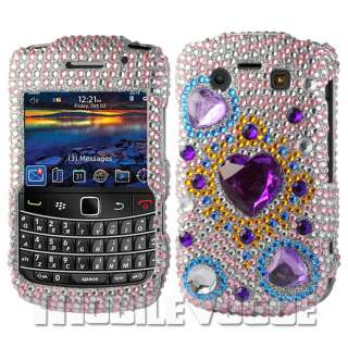 Bling Diamante Rhinestone Hard Case Cover For Blackberry Bold 9700 AT