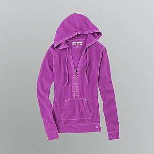 Juniors Lace Trim Thermal Hoodie  Dream Out Loud by Selena Gomez