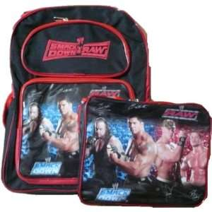 WWE Smackdown vs. Raw Large Size 16 Backpack and Lunch