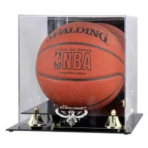 Atlanta Hawks Golden Classic Logo Basketball Display Case