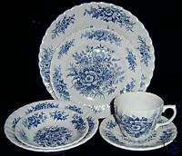 British Anchor Beacon Hill Blue White Dinner Plate