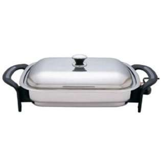 Inch Rectangular Surgical Stainless Steel Electric Skillet at