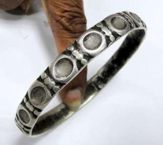 vintage antique ethnic tribal old silver bangle bracelet cuff