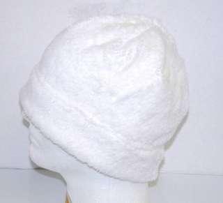 NEW Unisex Winter Beanie Fleece Skull Ski Cap Hat White