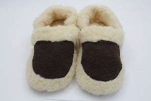 Pure Merino Wool Slippers, Low Boot   Brown
