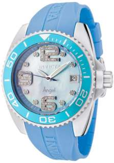 Invicta Womens 1060 Angel Blue Mother of Pearl Crystals Watch
