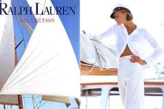1992 Ralph Lauren Kim Nye sailing 7 page magazine ad