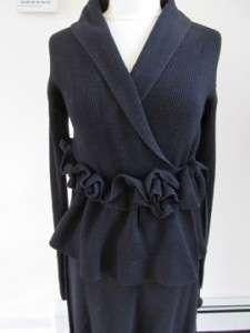 Sonia Rykiel Black Cardigan/Skirt Set Sz 38/40