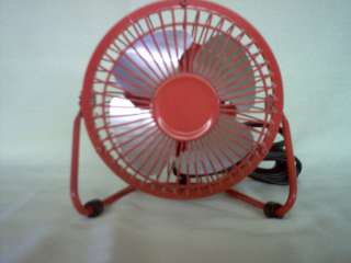 PMX High Velocity Metal Personal/Desk Fan Red