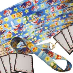 Super Mario Brothers Party Favors   12 pc ID Lanyard Neck Strap Pack w