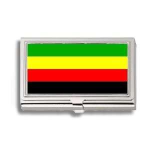 Bamileke National Flag Business Card Holder Metal Case