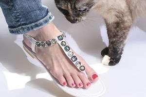 Womens Ankle T Strap Sandal, Black, White, Fuchsia, Blue, Size 5,6,7