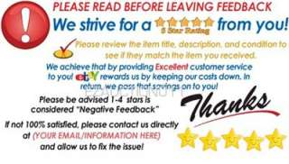 PROFESSIONAL LOOK 5 STAR DSR RATING THANK YOU CARDS FOR PACKAGES