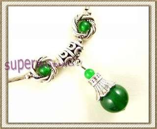 cy090 tibet style tibetan silver jade necklaces