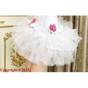For Corset   See Through Skirt   White   M (In Stock