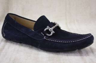 Ferragamo Parigi Moccasin Blue Suede Loafers Size 9D Driving shoe $495