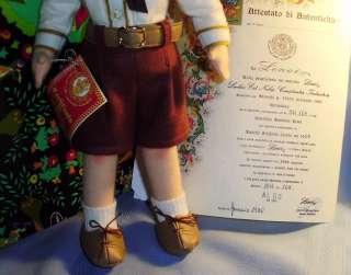 Vintage 1986 ALDO Cloth LENCI BOY DOLL MIB