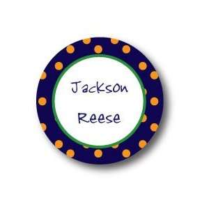Polka Dot Pear Design   Round Stickers (350r) Office