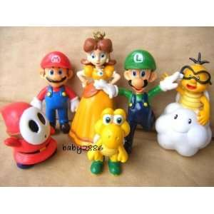 Super Mario Bros 6pcs Mini Figure Toys & Games