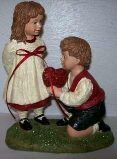 Be My Valentine Boy & Girl Figure by KD Vintage
