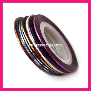 10x Striping Tape Line Nail Art Sticker Decoration B27