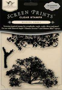 Tattered Angels Clear Stamps Tattered Blossom Trees