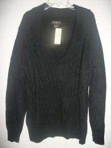Eddie Bauer womens black sweater size XL