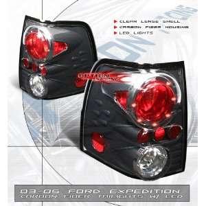 04 05 Carbon Fiber CF Style Euro LED Ring Tail Light Pair Automotive