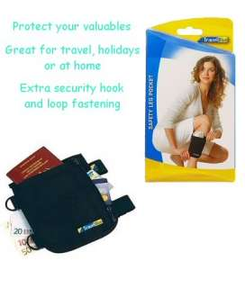 SECURITY TRAVEL LEG WALLET PASSPORT MONEY CREDIT CARDS POUCH HOLIDAY