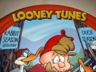 LOONEY TUNES Bugs Bunny Elmer Fudd Daffy Plate RARE