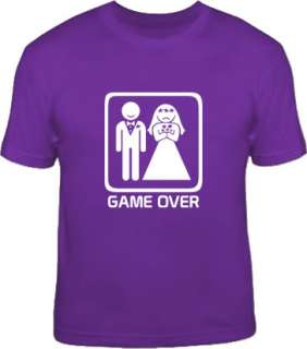GAME OVER sad bride wedding hen party funny T Shirt