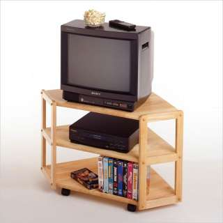 Winsome Basics Solid Wood Corner TV Stand 021713834232