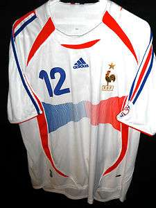HENRY VTG ADIDAS FFF FRANCE FOOTBALL PLAYER ISSUE JERSEY SHIRT MENS XL