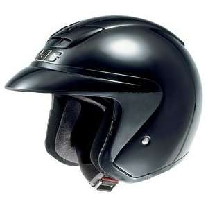 HJC AC 3 Open Face Motorcycle Helmet Black Extra Small