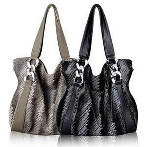 Womens Large Handbag Purse Hobo Shoulder Bag New Black Brown
