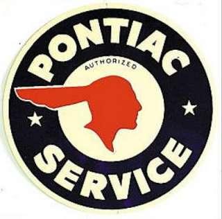 Metal   Tin Sign PONTIAC SERVICE Round Garage Sign