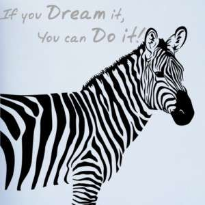 BIG ZEBRA & QUOTE Vinyl Art Wall Decor Sticker Decals