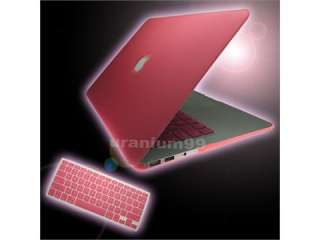 Mac Book Air Hard Case + Keyboard Cover Skin Pink Notebook