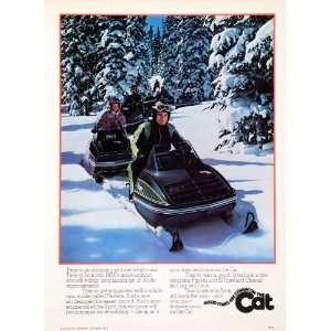 1975 Ad Arctic Cat Snowmobile Pantera Spirit El Tigre Cheetah Jag Lynx