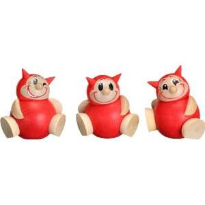 com German Ball Shape Lutz Cartoon Character Set of 3 Home & Kitchen