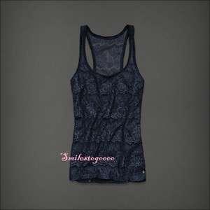 NWT Abercrombie Womens Alexa Fasion Top Tank Lace Blouse Jude M
