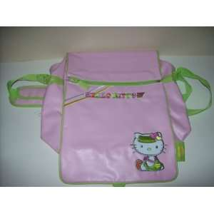Hello Kitty Pink Vinyl Messenger Bag Tote Backpack