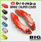 Brembo Style Universal Brake Caliper Cover Front and Rear New Fit for