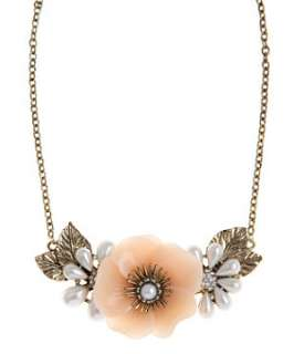 Pink (Pink) Flower Pendant Necklace  243151170  New Look
