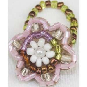 Beaded Flower Ring Arts, Crafts & Sewing