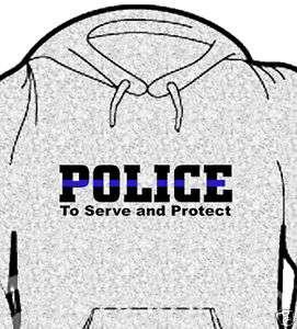 Thin Blue Line   Police   Hooded Sweatshirt